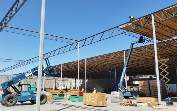 Commercial Warehouse Panelized Roof